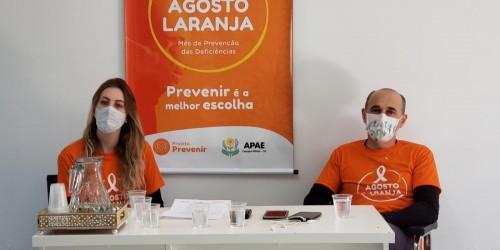 APAE de Campos Novos lança programação do Agosto Laranja
